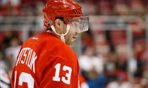 Гол Дацюка в ворота «Баффало» в первом матче сезона НХЛ