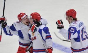 Россия после второго периода выигрывает у США на МЧМ в Мальме