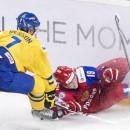 Россия после первого периода уступает шведам  в Мальме