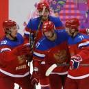 Сборная России забросила две шайбы во втором периоде матча с Норвегией