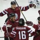 Латвия одолела Швейцарию и вышла на Канаду