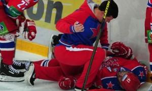Александр Радулов получил серьезную травму в матче со Спартаком