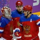 В матче США – Россия после второго периода счет 1:1