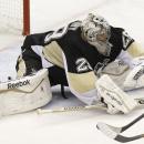 Флери сделал красивый сэйв, не дав Кузнецову открыть счет голам в НХЛ (видео)
