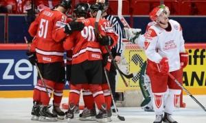 Швейцария снова победила Данию